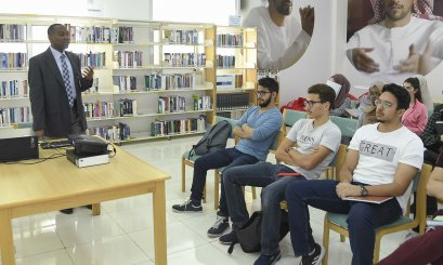 Orientation Week about Khalifa Library for Freshmen Students